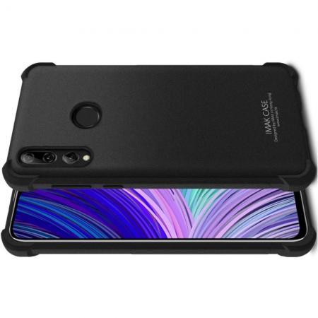 Ударопрочный бронированный IMAK чехол для HTC Desire 19 Plus с усиленными углами песочно-черный + защитная пленка на экран