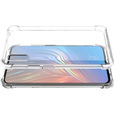 Ударопрочный бронированный IMAK чехол для Huawei Honor 9X с усиленными углами прозрачный + защитная пленка на экран
