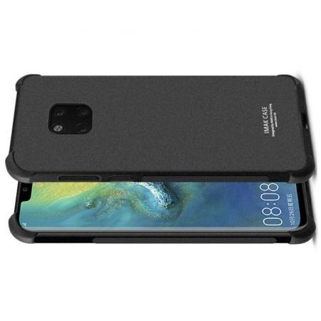 Ударопрочный бронированный IMAK чехол для Huawei Mate 20 Pro с усиленными углами песочно-черный