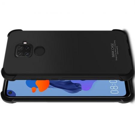 Ударопрочный бронированный IMAK чехол для Huawei Mate 30 Lite с усиленными углами черный + защитная пленка на экран