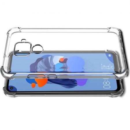 Ударопрочный бронированный IMAK чехол для Huawei Mate 30 Lite с усиленными углами прозрачный + защитная пленка на экран