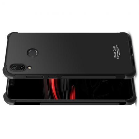 Ударопрочный бронированный IMAK чехол для Huawei nova 3 с усиленными углами черный + защитная пленка на экран