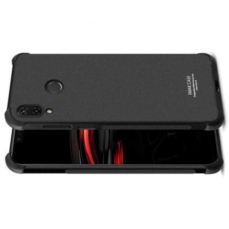Ударопрочный бронированный IMAK чехол для Huawei nova 3 с усиленными углами песочно-черный + защитная пленка на экран