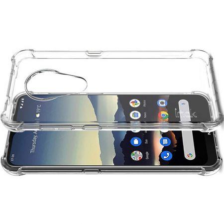 Ударопрочный бронированный IMAK чехол для Nokia 6.2 с усиленными углами прозрачный + защитная пленка на экран