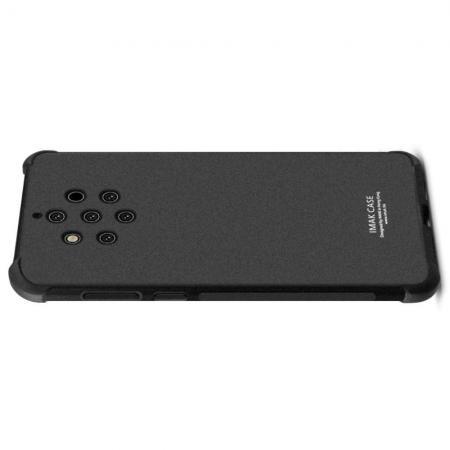 Ударопрочный бронированный IMAK чехол для Nokia 9 PureView с усиленными углами песочно-черный + защитная пленка на экран