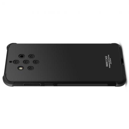 Ударопрочный бронированный IMAK чехол для Nokia 9 PureView с усиленными углами черный + защитная пленка на экран