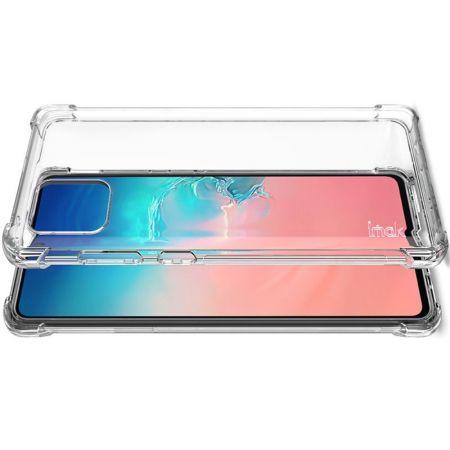 Ударопрочный бронированный IMAK чехол для Samsung Galaxy Note 10 Lite с усиленными углами прозрачный + защитная пленка на экран
