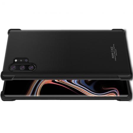 Ударопрочный бронированный IMAK чехол для Samsung Galaxy Note 10 Plus с усиленными углами черный + защитная пленка на экран
