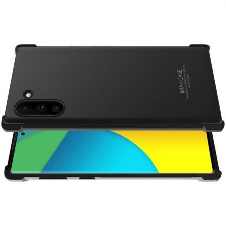 Ударопрочный бронированный IMAK чехол для Samsung Galaxy Note 10 с усиленными углами черный + защитная пленка на экран