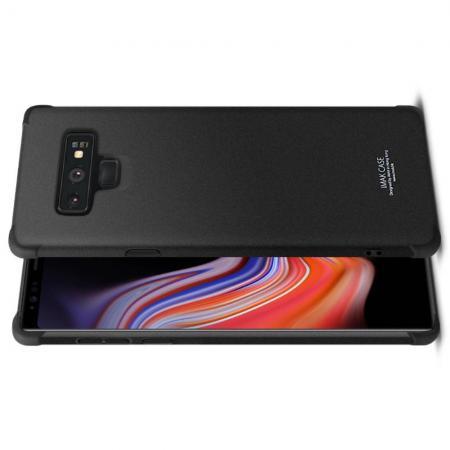 Ударопрочный бронированный IMAK чехол для Samsung Galaxy Note 9 с усиленными углами песочно-черный