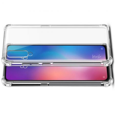 Ударопрочный бронированный IMAK чехол для Xiaomi Mi 9 с усиленными углами прозрачный + защитная пленка на экран