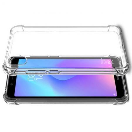Ударопрочный бронированный IMAK чехол для Xiaomi Redmi 7A с усиленными углами прозрачный + защитная пленка на экран
