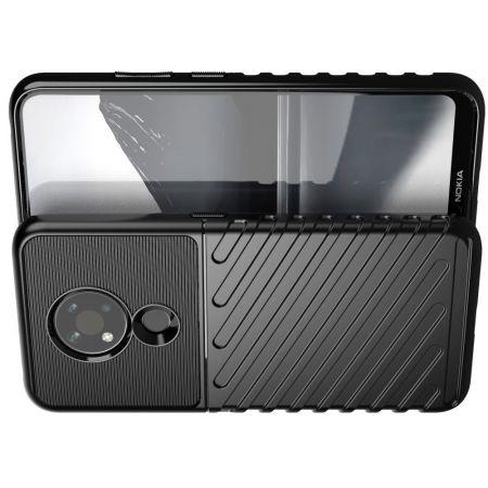 Ударопрочный Защитный Чехол Rugged Armor Guard Пластик + TPU для Nokia 3.4 Черный