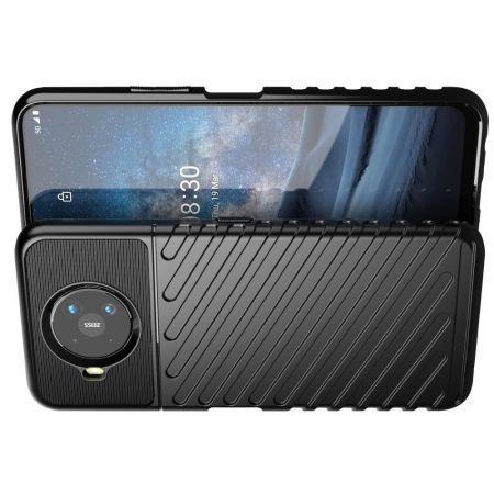 Ударопрочный Защитный Чехол Rugged Armor Guard Пластик + TPU для Nokia 8.3 5G Черный