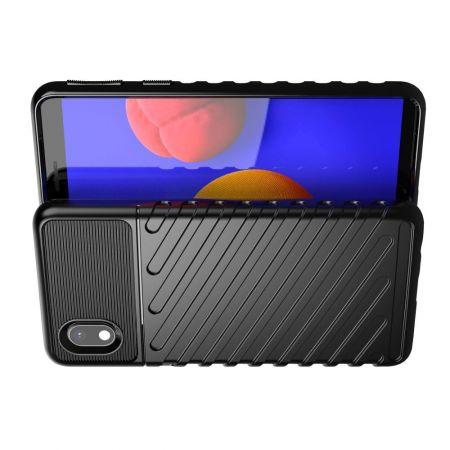 Ударопрочный Защитный Чехол Rugged Armor Guard Пластик + TPU для Samsung Galaxy A01 Core Черный