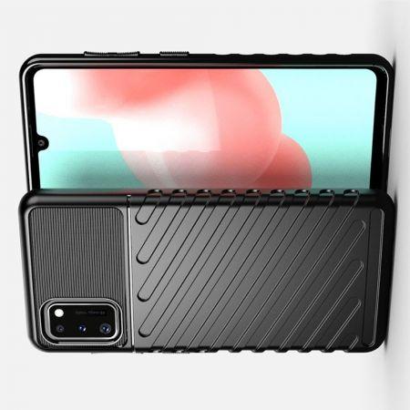 Ударопрочный Защитный Чехол Rugged Armor Guard Пластик + TPU для Samsung Galaxy A41 Черный
