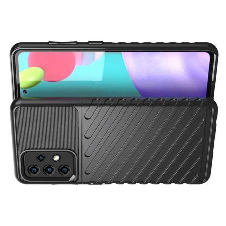 Ударопрочный Защитный Чехол Rugged Armor Guard Пластик + TPU для Samsung Galaxy A52 Черный