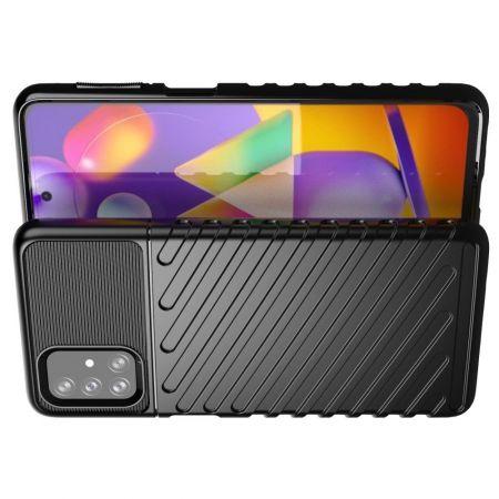 Ударопрочный Защитный Чехол Rugged Armor Guard Пластик + TPU для Samsung Galaxy M31s Черный