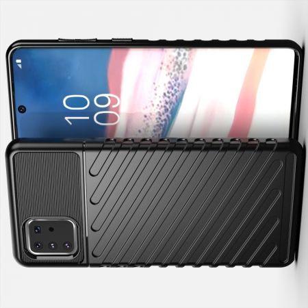 Ударопрочный Защитный Чехол Rugged Armor Guard Пластик + TPU для Samsung Galaxy Note 10 Lite Черный