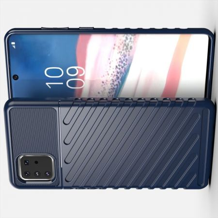 Ударопрочный Защитный Чехол Rugged Armor Guard Пластик + TPU для Samsung Galaxy Note 10 Lite Синий