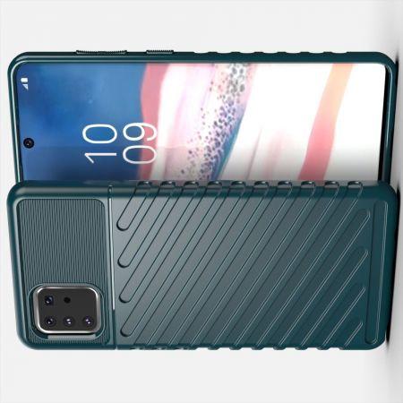 Ударопрочный Защитный Чехол Rugged Armor Guard Пластик + TPU для Samsung Galaxy Note 10 Lite Зеленый