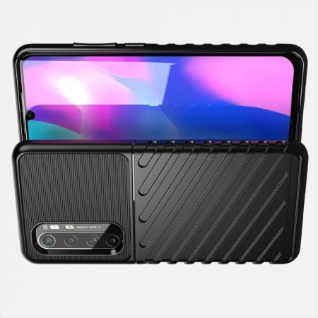 Ударопрочный Защитный Чехол Rugged Armor Guard Пластик + TPU для Xiaomi Mi Note 10 Lite Черный