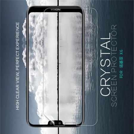 Ультра прозрачная глянцевая защитная пленка для экрана Nokia 6.1 Plus