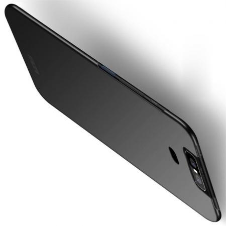 Ультратонкий Матовый Кейс Пластиковый Накладка Чехол для Asus Zenfone 6 ZS630KL Черный