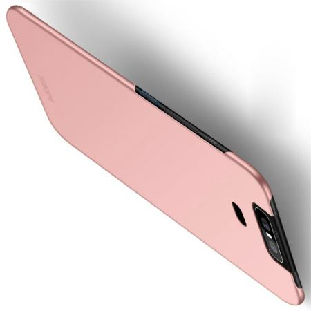 Ультратонкий Матовый Кейс Пластиковый Накладка Чехол для Asus Zenfone 6 ZS630KL Розовое Золото