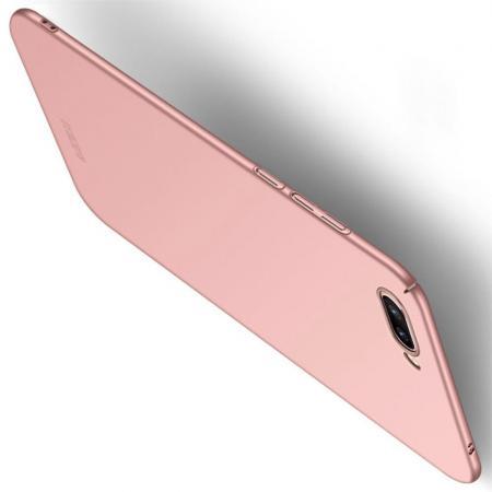 Ультратонкий Матовый Кейс Пластиковый Накладка Чехол для Huawei Honor 10 Розовое Золото