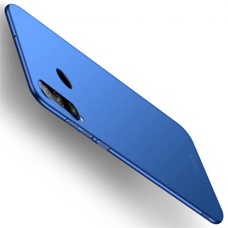 Ультратонкий Матовый Кейс Пластиковый Накладка Чехол для Huawei Honor 10i Синий