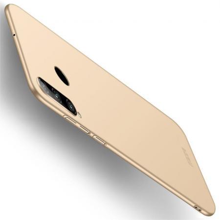 Ультратонкий Матовый Кейс Пластиковый Накладка Чехол для Huawei Honor 10i Золотой