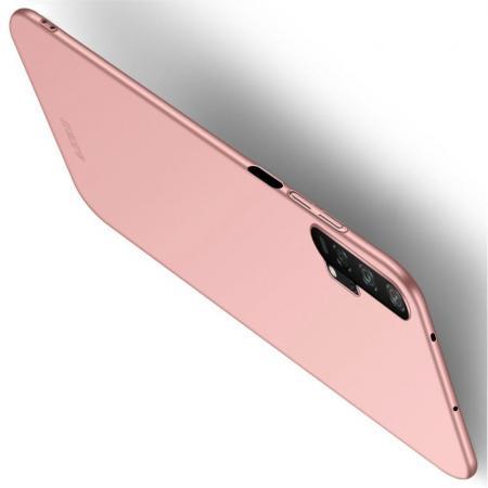 Ультратонкий Матовый Кейс Пластиковый Накладка Чехол для Huawei Honor 20 Pro Розовое Золото