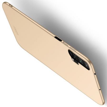Ультратонкий Матовый Кейс Пластиковый Накладка Чехол для Huawei Honor 20 Pro Золотой