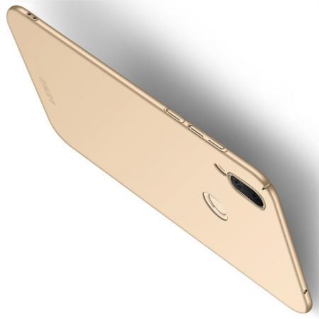 Ультратонкий Матовый Кейс Пластиковый Накладка Чехол для Huawei Honor Play Золотой
