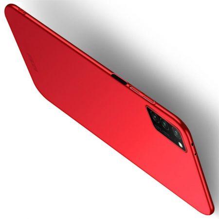 Ультратонкий Матовый Кейс Пластиковый Накладка Чехол для Huawei Honor View 30 Красный