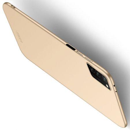 Ультратонкий Матовый Кейс Пластиковый Накладка Чехол для Huawei Honor View 30 Золотой
