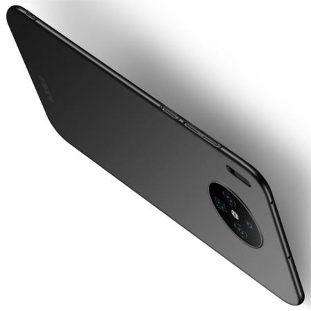 Ультратонкий Матовый Кейс Пластиковый Накладка Чехол для Huawei Mate 30 Черный