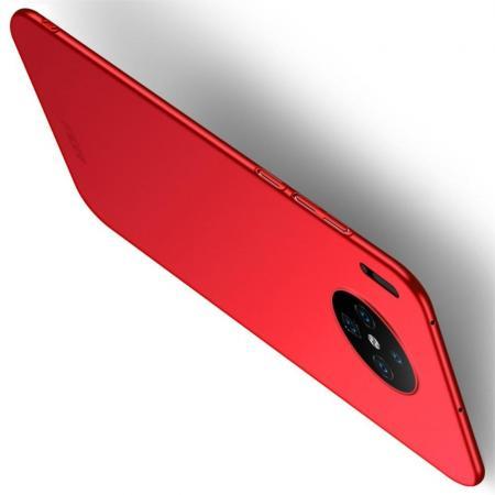 Ультратонкий Матовый Кейс Пластиковый Накладка Чехол для Huawei Mate 30 Красный