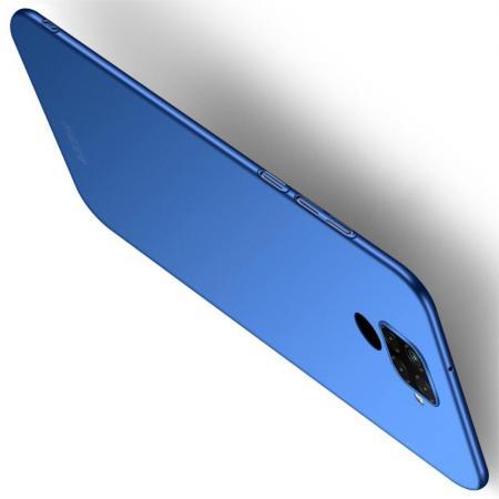 Ультратонкий Матовый Кейс Пластиковый Накладка Чехол для Huawei Mate 30 Lite Синий