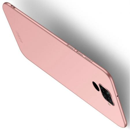 Ультратонкий Матовый Кейс Пластиковый Накладка Чехол для Huawei Mate 30 Lite Ярко-Розовый