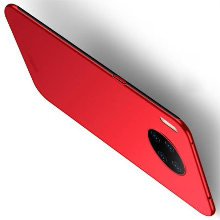 Ультратонкий Матовый Кейс Пластиковый Накладка Чехол для Huawei Mate 30 Pro Красный