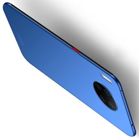 Ультратонкий Матовый Кейс Пластиковый Накладка Чехол для Huawei Mate 30 Pro Синий