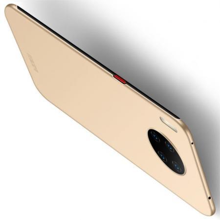 Ультратонкий Матовый Кейс Пластиковый Накладка Чехол для Huawei Mate 30 Pro Золотой