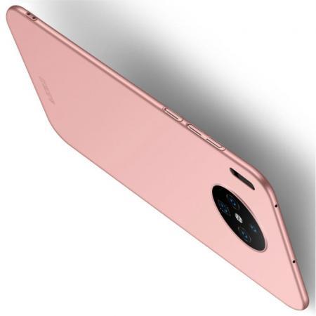 Ультратонкий Матовый Кейс Пластиковый Накладка Чехол для Huawei Mate 30 Розовый