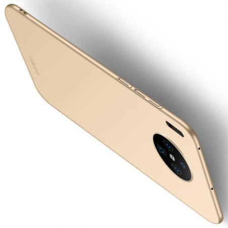 Ультратонкий Матовый Кейс Пластиковый Накладка Чехол для Huawei Mate 30 Золотой