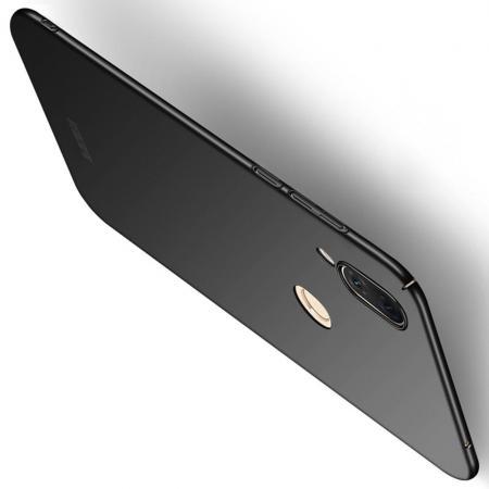Ультратонкий Матовый Кейс Пластиковый Накладка Чехол для Huawei nova 3 Черный