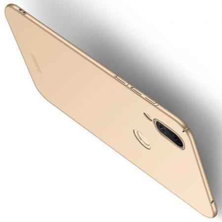 Ультратонкий Матовый Кейс Пластиковый Накладка Чехол для Huawei nova 3 Золотой