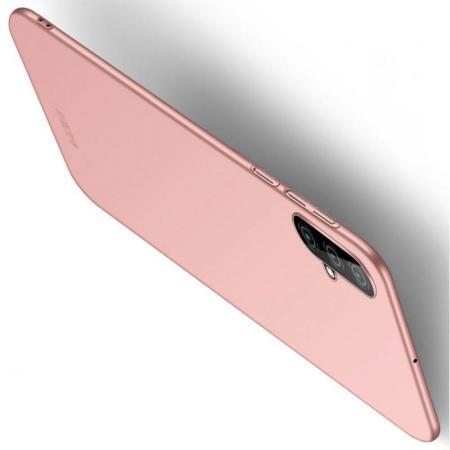 Ультратонкий Матовый Кейс Пластиковый Накладка Чехол для Huawei Nova 5 Розовое Золото