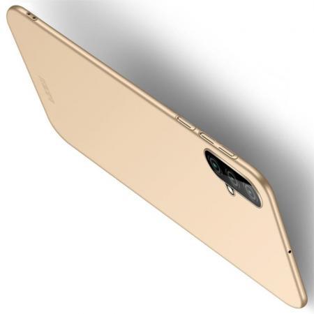 Ультратонкий Матовый Кейс Пластиковый Накладка Чехол для Huawei Nova 5 Золотой